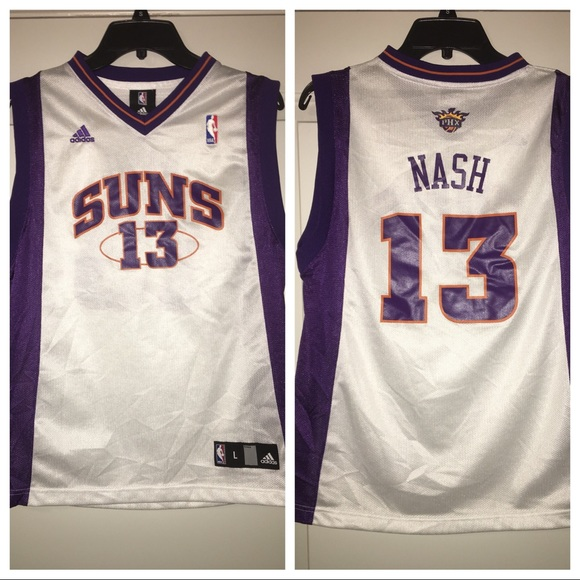 quality design f4a9f c00e5 Vintage ADIDAS phx suns steve nash youth jersey